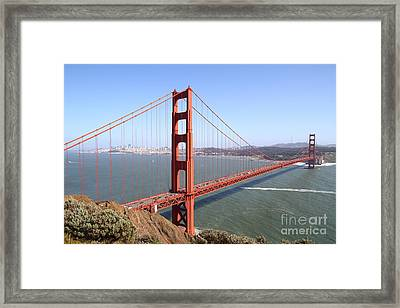 The San Francisco Golden Gate Bridge 7d14507 Framed Print by Wingsdomain Art and Photography