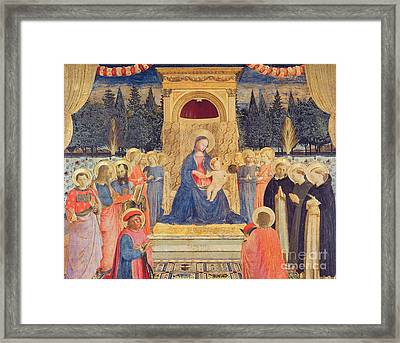 The San Marco Altarpiece Framed Print by Fra Angelico