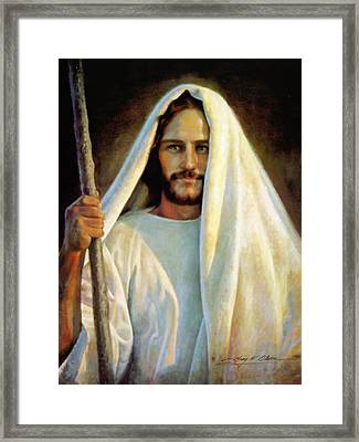 The Savior Framed Print by Greg Olsen