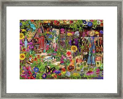 The Scarecrows Garden Framed Print by Aimee Stewart