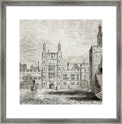 The School Yard At Eton College, Eton Framed Print by Vintage Design Pics