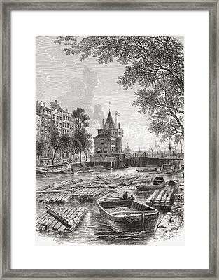 The Schreierstoren Or The Tower Of Framed Print by Vintage Design Pics