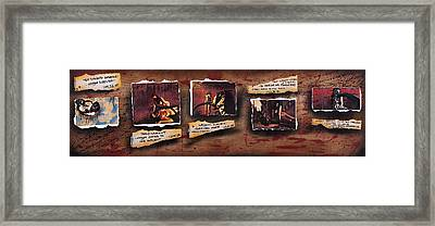 The Science Of Man Framed Print by Tai Taeoalii