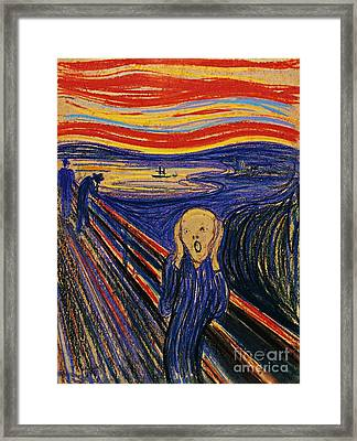 The Scream Framed Print by Pg Reproductions