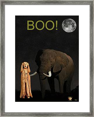 The Scream World Tour African Elephant Boo Framed Print by Eric Kempson