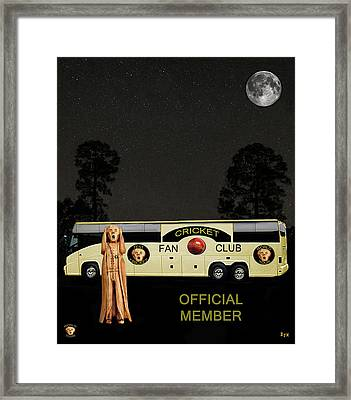 The Scream World Tour Cricket  Tour Bus Framed Print by Eric Kempson