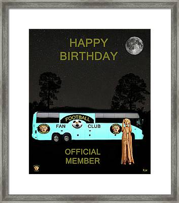 The Scream World Tour Football Tour Bus Happy Birthday Framed Print by Eric Kempson