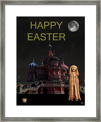 The Scream World Tour Moscow Happy Easter Framed Print by Eric Kempson