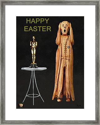 The Scream World Tour Oscars Happy Easter Framed Print by Eric Kempson