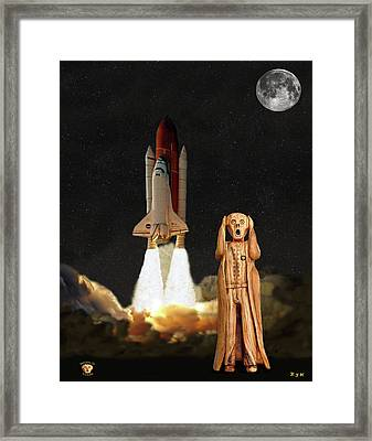 The Scream World Tour Space Shuttle Framed Print by Eric Kempson