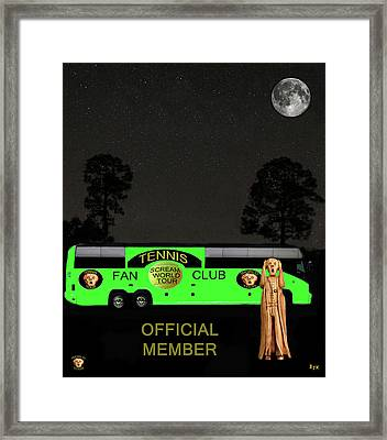 The Scream World Tour Tennis Tour Bus Framed Print by Eric Kempson