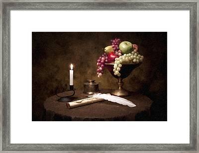 The Scribe Framed Print by Tom Mc Nemar