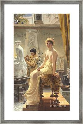 The Sculptor's Model Framed Print by Angelo Courten
