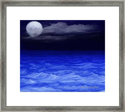The Sea At Night Framed Print by Gina Lee Manley