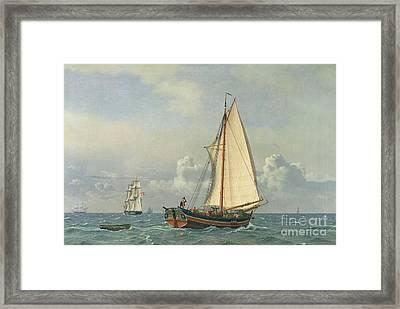 The Sea Framed Print by Christoffer Wilhelm Eckersberg