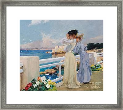 The Seagulls Framed Print by Albert Pierre Rene Maignan