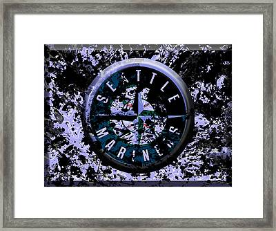 The Seattle Mariners 1b Framed Print by Brian Reaves