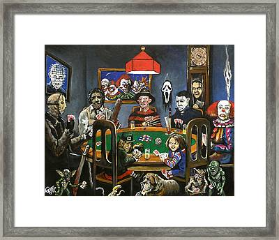 The Second Horror Game Framed Print by Tom Carlton