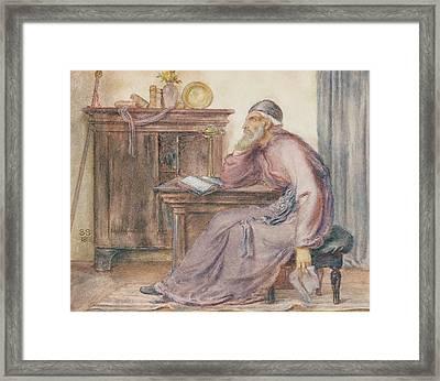 The Seer Framed Print by Simeon Solomon