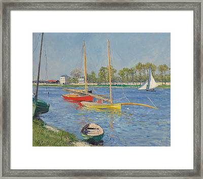 The Seine At Argenteuil Framed Print by Gustave Caillebotte