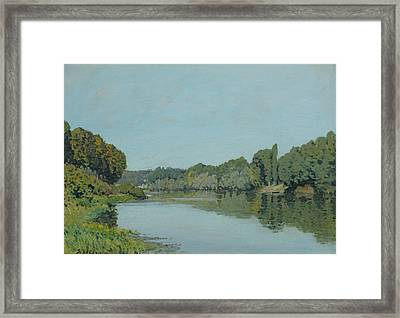The Seine At Bougival Framed Print by Alfred Sisley