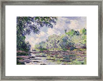 The Seine At Giverny Framed Print by Claude Monet