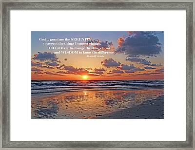 The Serenity Prayer Framed Print by HH Photography of Florida