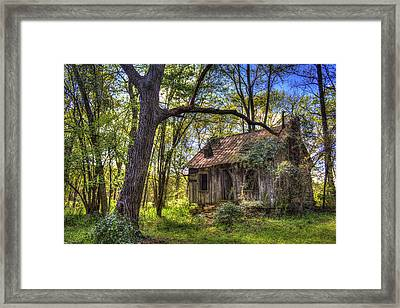The Shack Aunt Mitiz Place Framed Print by Reid Callaway