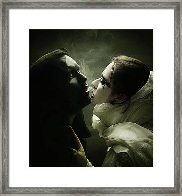 The Shadow And Me Framed Print by Joanna Jankowska
