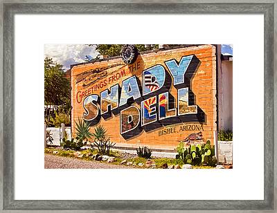 The Shady Dell Bisbee Az Framed Print by Lynn Andrews
