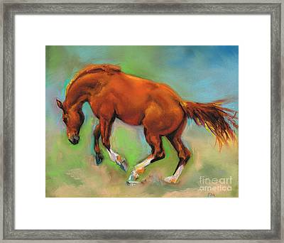 The Sheer Joy Of It Framed Print by Frances Marino