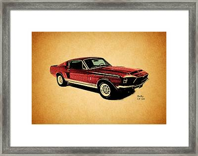 The Shelby Gt500 Framed Print by Mark Rogan