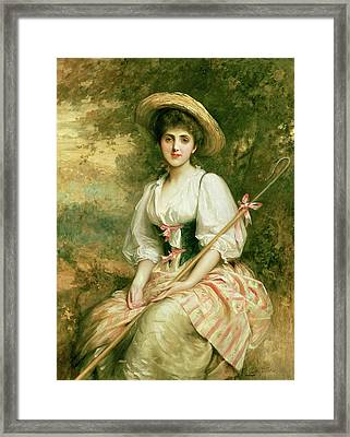 The Shepherdess Framed Print by Sir Samuel Luke Fildes