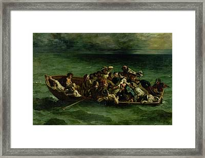 The Shipwreck Of Don Juan Framed Print by Ferdinand Victor Eugene Delacroix