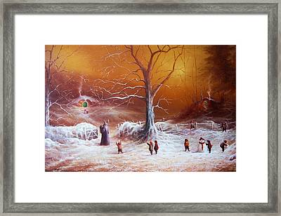 The Shire First Snowfall Framed Print by Joe Gilronan