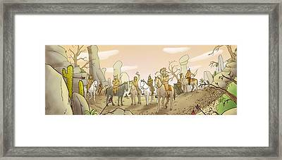 The Shoshone Hunting Party Framed Print by Reynold Jay