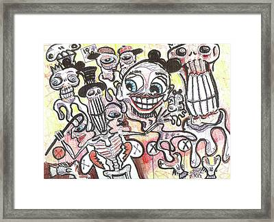 The Show Must Go On Framed Print by Robert Wolverton Jr