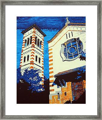 The Shrine Of The Miraculous Medal Framed Print by Sheri Parris