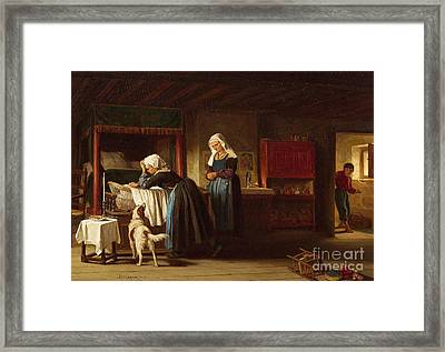 The Sick Child Framed Print by MotionAge Designs