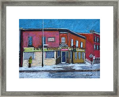The Silver Dragon Restaurant Verdun Framed Print by Reb Frost