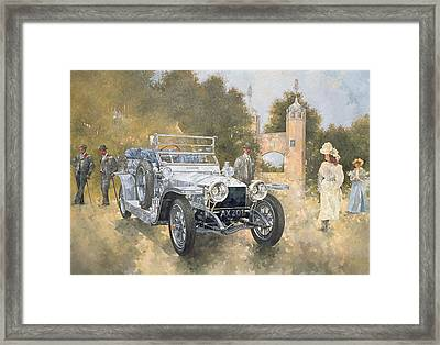 The Silver Ghost Framed Print by Peter Miller