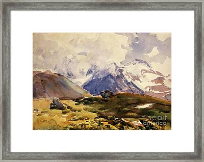 The Simplon Framed Print by John Singer Sargent