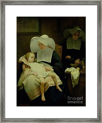 The Sisters Of Mercy Framed Print by Henriette Browne