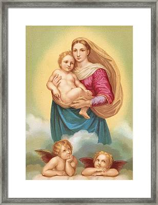 The Sistine Madonna Framed Print by Raphael