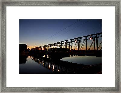 The Sixth Street Bridge At Sunset Framed Print by Richard Gregurich