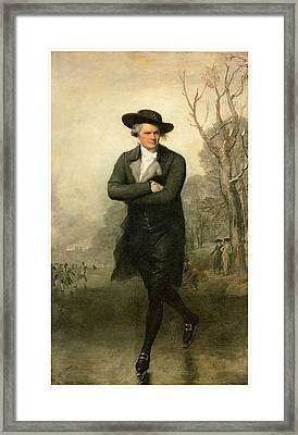 The Skater Portriat Of William Grant Framed Print by Gilbert Stuart