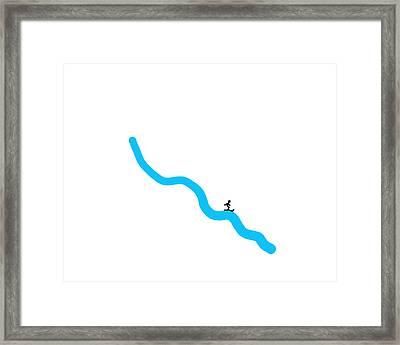 The Skier Framed Print by David Bridburg