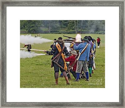 The Skirmish Begins Framed Print by Linsey Williams