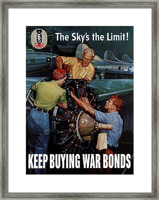 The Sky's The Limit - Ww2 Framed Print by War Is Hell Store