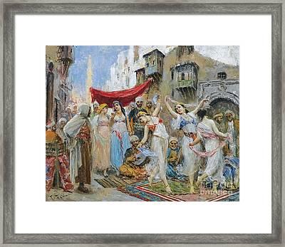 The Slave Market Framed Print by Celestial Images